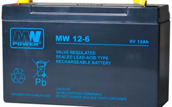 Akumulator AGM MW Power MW 12-6L VRLA 6V / 12Ah