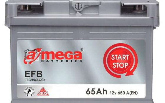 Akumulator AMEGA EFB 12V 65Ah 650 A Start Stop EFB