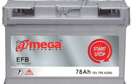 Akumulator AMEGA EFB 12V 78Ah 790A Start Stop EFB